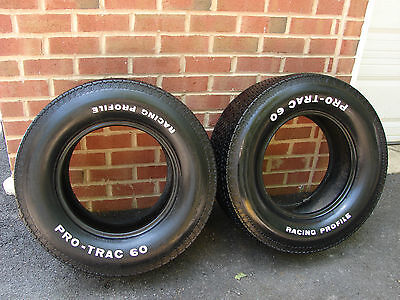 VINTAGE PRO-TRAC RACING PROFILE L60-15 TIRES DAY 2 MUSCLE CAR STREET ROD