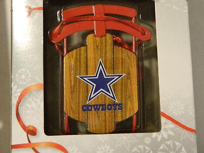 Dallas Cowboys Team Metal Sled Christmas TREE ORNAMENT 3.5
