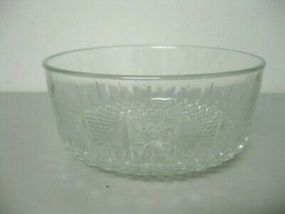 Arcoroc 7 Layer Dip Fruit or Salad Bowl Hobnail and Sun Pattern France