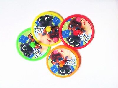 Puppy Pals - 8 Spin Tops-Party Favors Kids Stocking Stuffers  Pinata  - Stocking Stuffers Kids