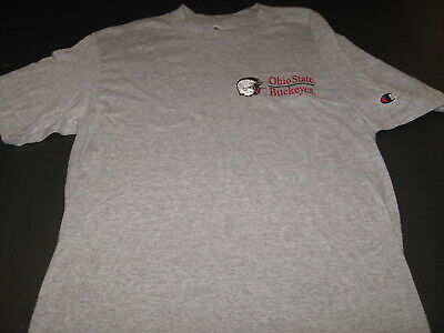 OHIO STATE University BUCKEYES Football Team Helmet Embroidered T-Shirt New!  SM Ohio Embroidered T-shirt