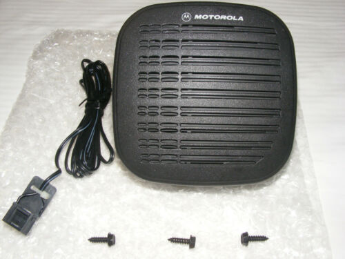 Motorola RSN4001A External 13 Watt Speaker with 16 Pin Accy Cable  NEW