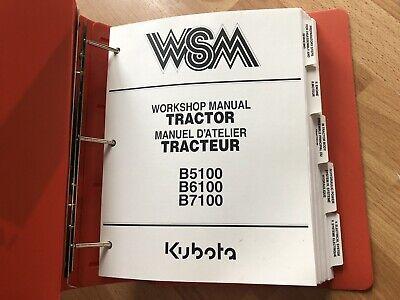 Kubota B5100 B6100 B7100 Tractor Factory Original Workshop Repair Manual