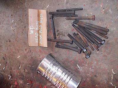 20 Allis Chalmers Wd Tractor Ac Engine Motor Head Manifold Bolt Bolts