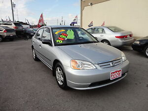 2001 Honda Civic DX-G Sedan E-TESTED & CERT