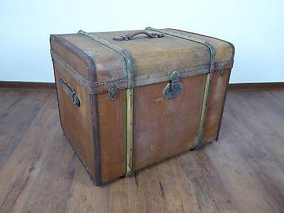 antiker Jugendstil Koffer Überseekoffer Reisekoffer Truhe Dampfer Vintage Loft 2
