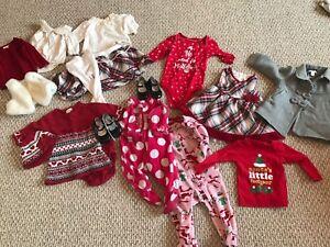 6-9 Month Girls Christmas Lot