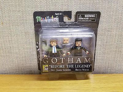 Art Asylum Minimates Gotham James Gordon, Bruce Wayne, SDCC exclusive!