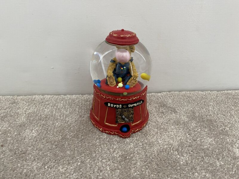 Boyds Bear Musical Globe Bubbles McBeansley Plays My Favorite Things 270614 RARE