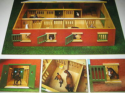 Pferdestall 1 : 24 für Schleich Pferde Stall Kids Globe Holz Pferdeboxen