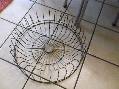 Beautiful Metal Plate  Rack- Round Holds 32 Plates Metal Plate Rack