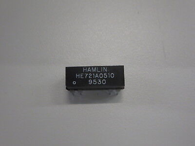 HAMLIN HE721A0510 REED RELAYS SPST 5 VDC .5A 500 OHM (LOT OF 99) D/C: 9530