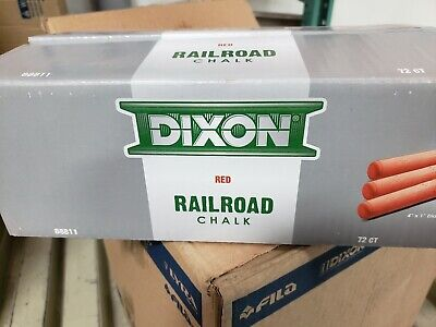 """Dixon Railroad Chalk, 4"""" x 1"""", RED 88811"""