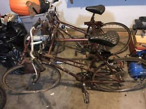 Antique side-by-side bike