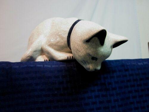 "The Potting Shed ""Peeking Kitty"" Cat Figurine. Dedham Rabbit 1995. Perfect."