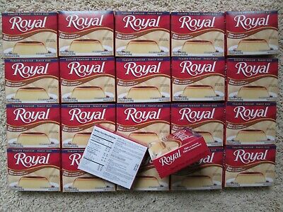 - 22 Pack Royal Flan w caramel sauce mix 5.5 oz 8 1/2 cup Servings Pudding Jello