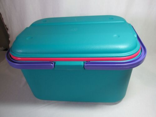 Eagle Craftstor Craft Tote Sewing Bin with inner tray - Made in USA - HTF