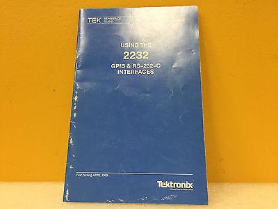 Tektronix 070-7221-01 2232 Gpib Rs-232-c Interface Reference Guide