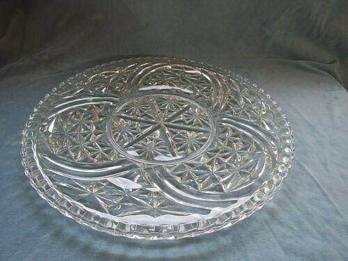 """Vintage Anchor Hocking Stars and Bars Torte Plate 12.75"""""""