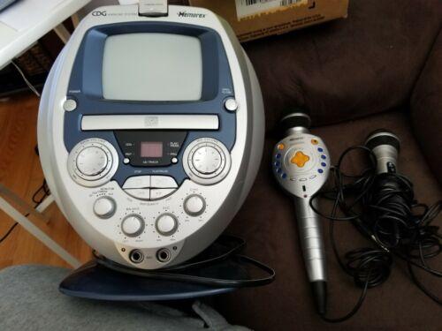Memorex Portable CD/CD+G Karaoke System With Microphones