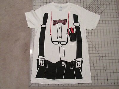 NERD Outfit T-SHIRT Mens SMALL Costume Print Bowtie - Nerd Outfit