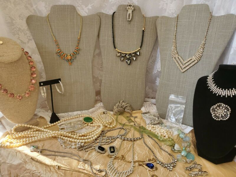 Craft Jewelry Lot Vintage to Now Bling.  Charter Club  Avon JL-163