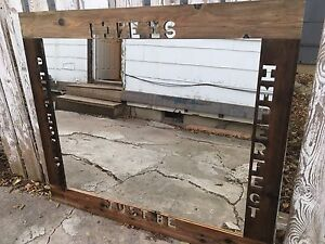 Large handmade mirror