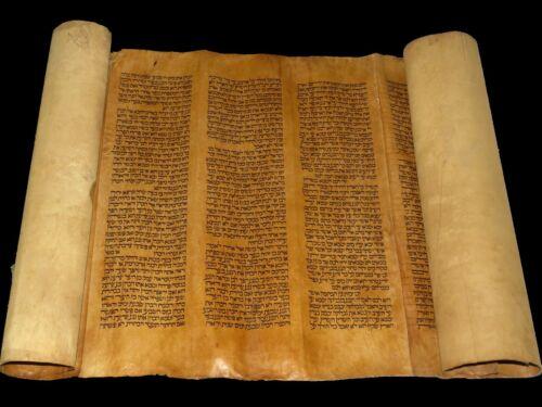 TORAH BIBLE VELLUM MANUSCRIPT FRAGMENT/LEAF 250 YRS OLD ITALY Book of Leviticus