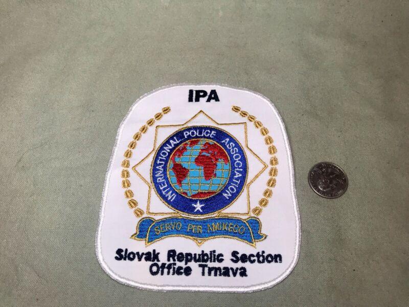 Obsolete IPA Slovak Republic International Police Association Patch