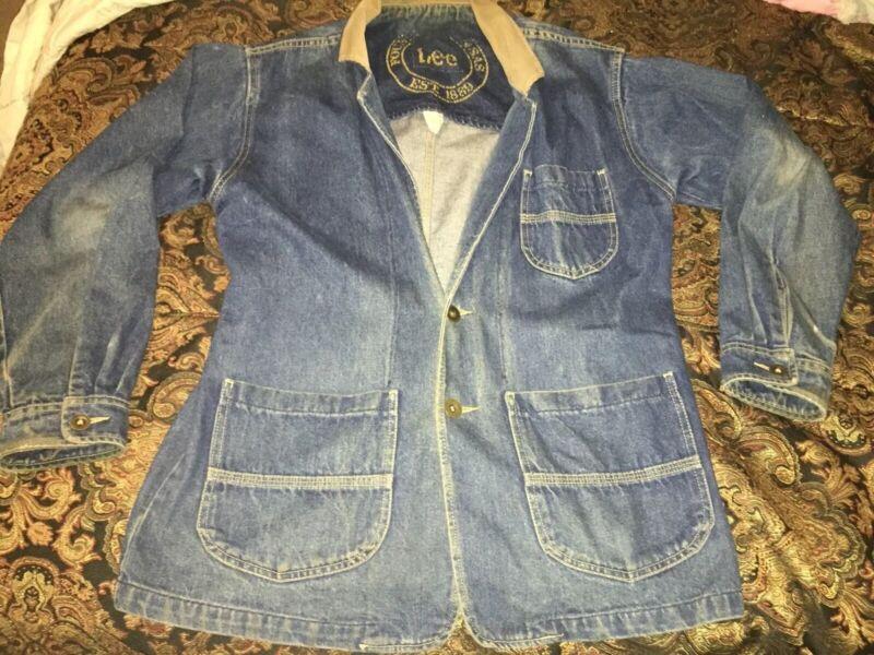 Vintage Lee Denim Jean Jacket Men's Medium Made in USA 2 Button Front