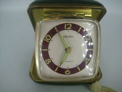 Vintage Seiko Travel Alarm Clock