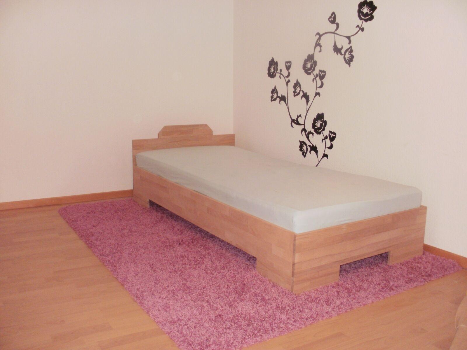 27mm vollholzbett echtholzbett massivholzbett 90x200 einzelbett kinderbett fu ii eur 185 00. Black Bedroom Furniture Sets. Home Design Ideas