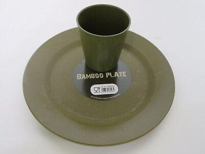 bambù Piatto+Coppa bambù Piastra+Tazza Luce Campeggio Articoli per tavola