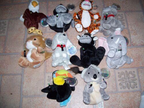 COCA-COLA SET #1 INTERNATIONAL BEAN BAG PLUSH COLLECTION - SET OF 10 ANIMALS