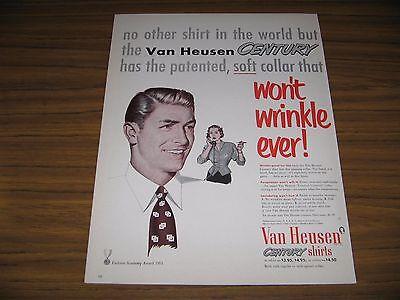 1951 Print Ad Van Heusen Century Mens Shirts Phillips Jones New York Ny