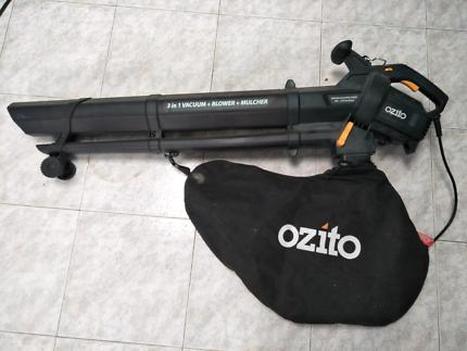 Blower + vacuum + mulcher
