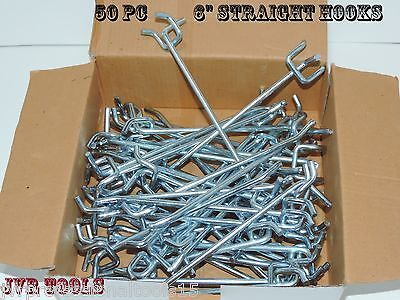 50-pc 6 Peg Board Hooks Shelf Hanger Kit 6 X 14 Garage Storage Hanging Set