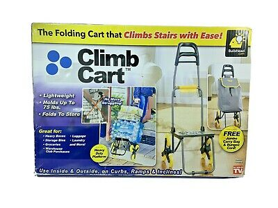 1 Climb Cart The Folding Cart That Climbs Stairs With Ease Heavy Duty Reusable