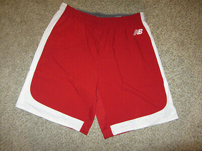 NEW New Balance Baseball Running Dress Lounge Shorts 2XL XXL Red NB Lounge GYM
