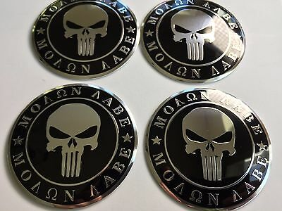 (PACK OF 4) 2nd Amendment Wheel Center Cap Decals Emblems Sticker 2.5