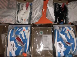 BUYING SIZE 8.5, 9, and 9.5 JORDAN 1 off white unc