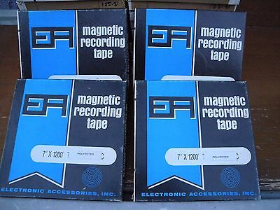 """4 pcs only EA recording tape 7/"""" 1//4/"""" 1200 feet with home recording song or music"""