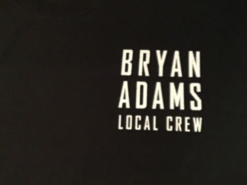 Bryan Adams 2019 Tour Local Crew T Shirt Black