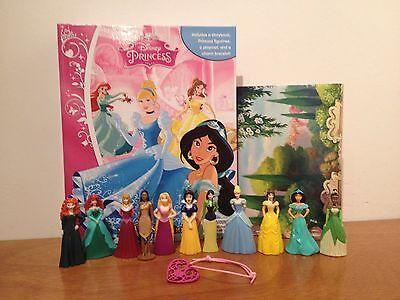 NEW Disney Princess My Busy Book + 11 Character Figurines, Bracelet & Playmat