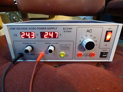 Pasco Low Voltage Acdc Power Supply Model Sf-9584a