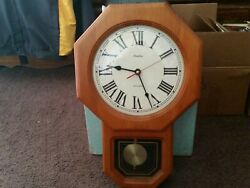 1980s. Linden Wall Clock Octagon.... Westminster....Chime....Works Great.......
