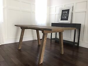 Custom made solid wood table