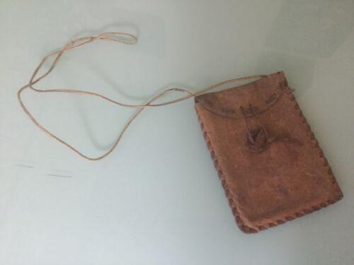 VINTAGE HIPPIE LEATHER SHOULDER Hand BAG Pouch PURSE (#1)
