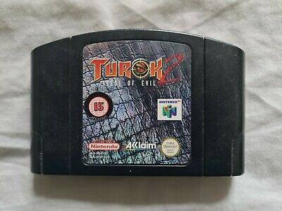 TUROK 2 SEEDS OF EVIL Nintendo 64 N64 Game PAL VERSION