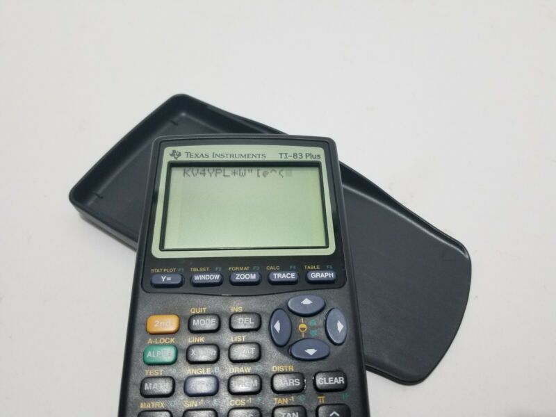 Texas Instruments TI-83 Plus Graphing Calculator with Cover - Tested & Working